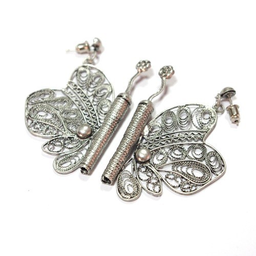 Earrings butterfly gold