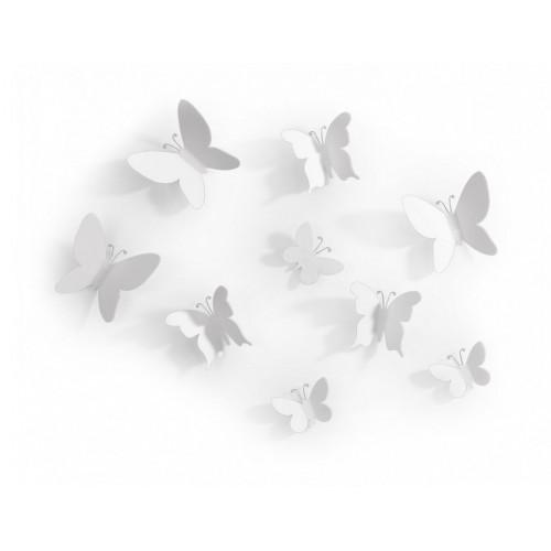 Set mariposas blanco