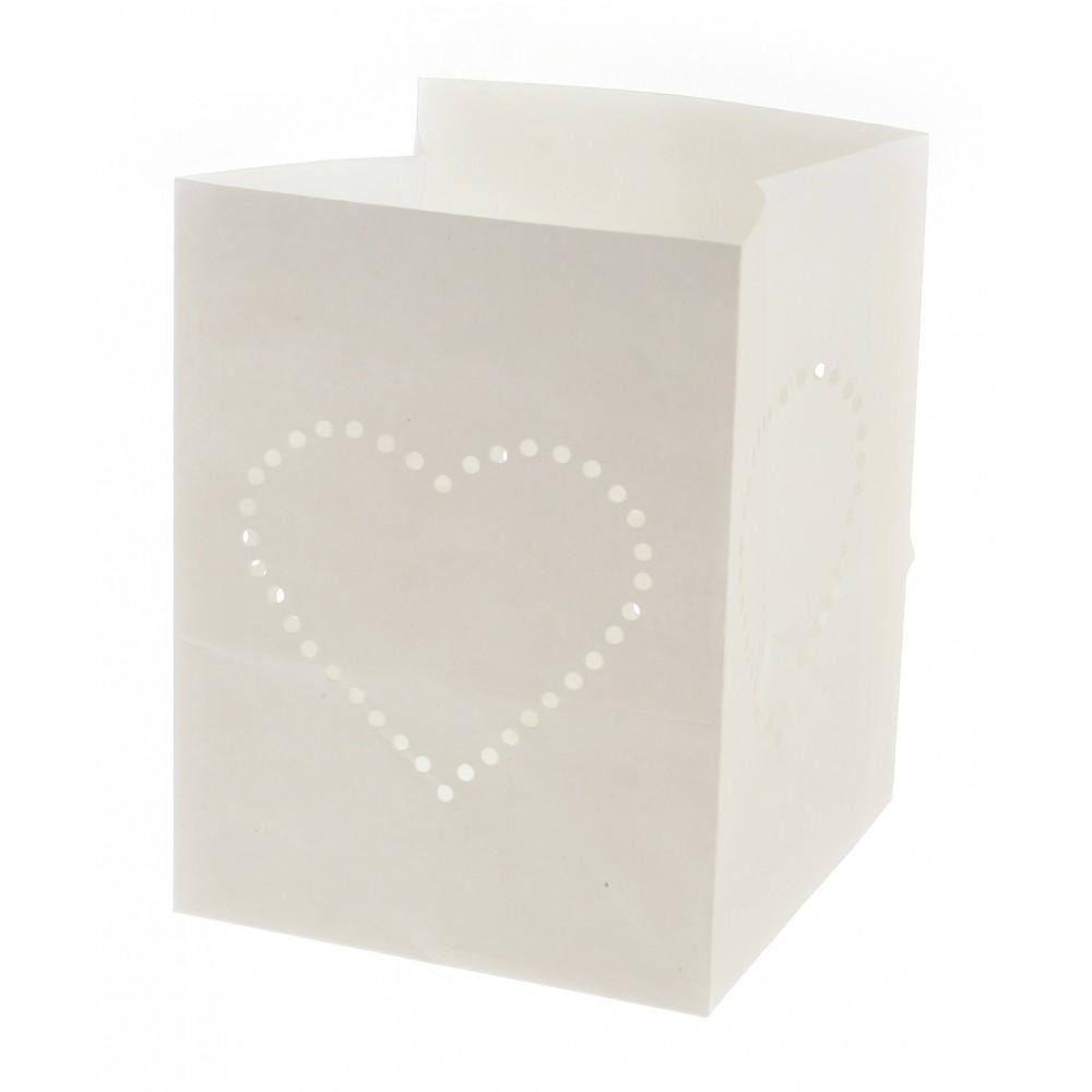 corazón bolsa papel