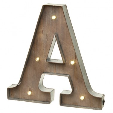 A letter with leds