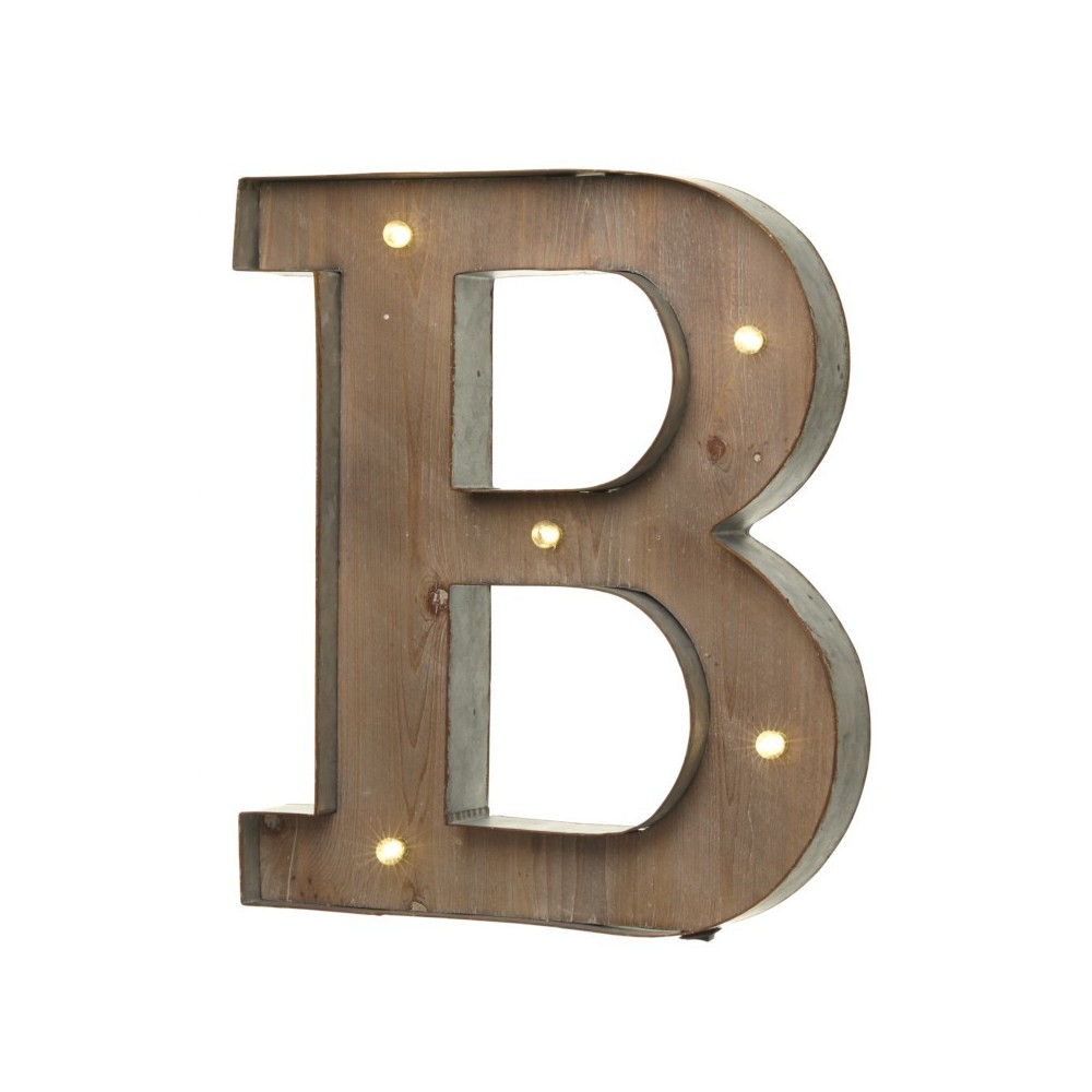 B letter with leds