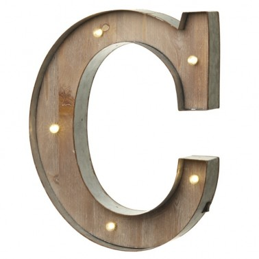 C letter with leds