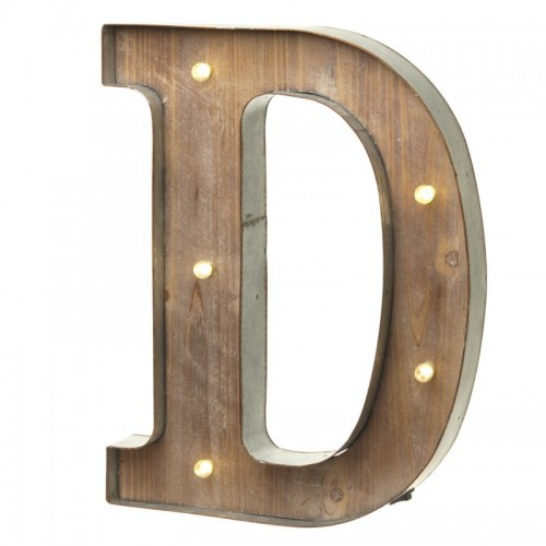 D letter with leds