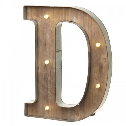 Letra D con Led