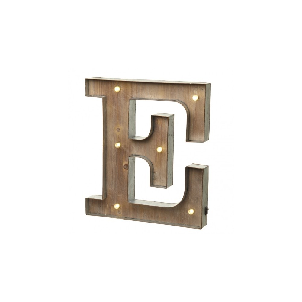 E letter with leds