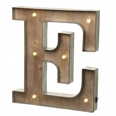 Letra E con Led