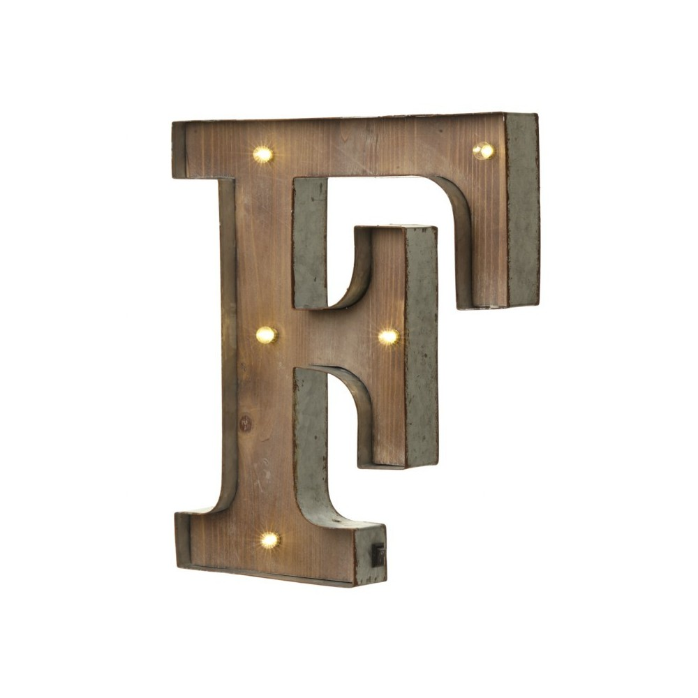 F letter with leds