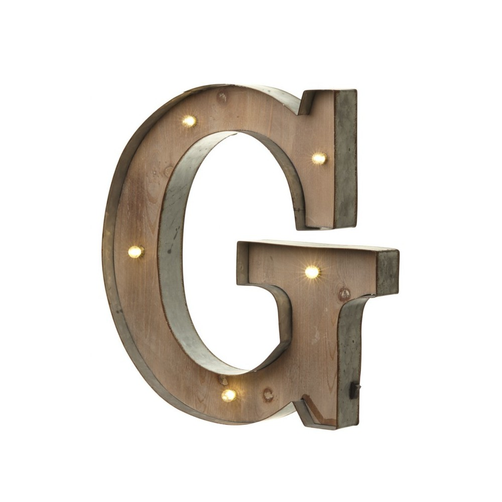 G letter with leds