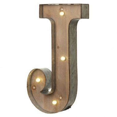 J letter with leds