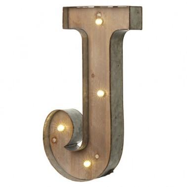 Letra J con Led