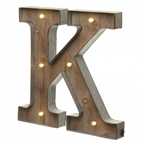 K letter with leds