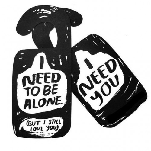 Alone Time Door Hangers
