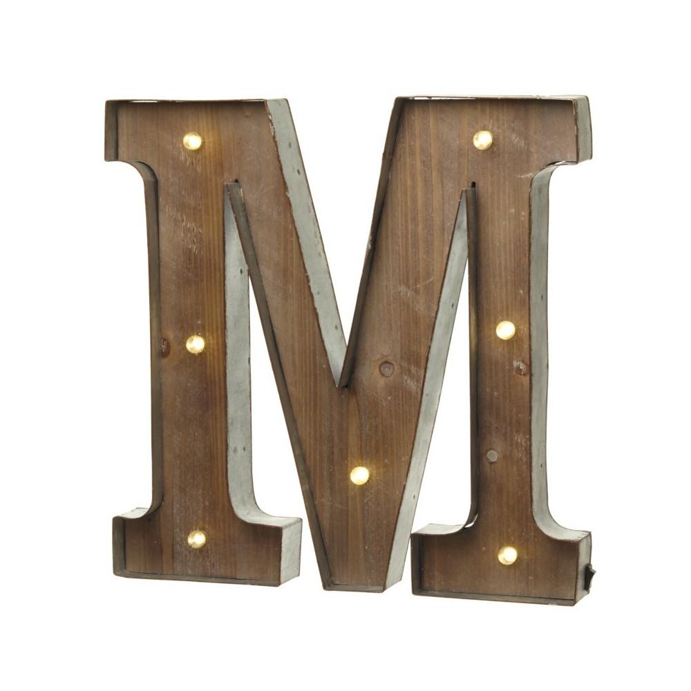 Letra M con Led
