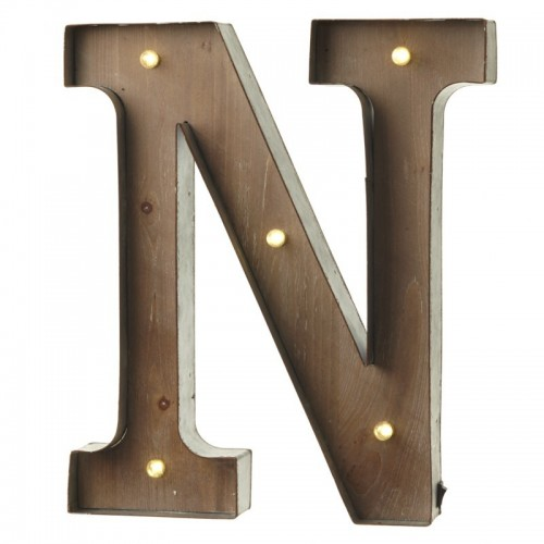 N letter with leds