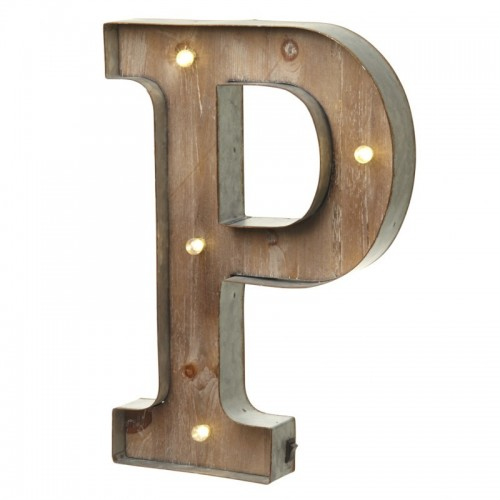 P letter with leds