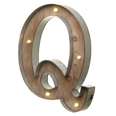 Letra Q con Led
