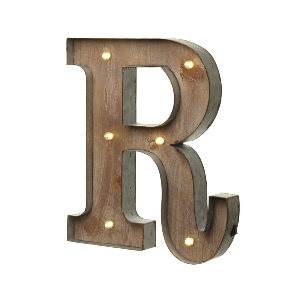 R letter with leds