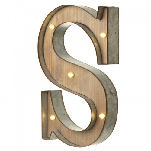 S letter with leds