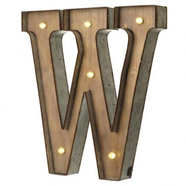 Letra W con Led