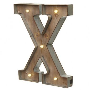 Letra X con Led
