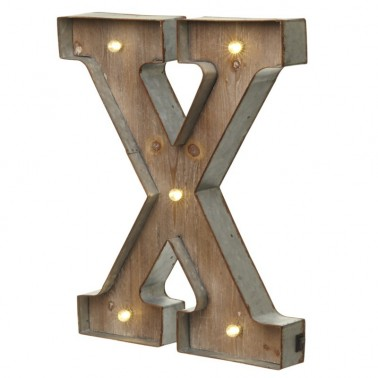 X letter with leds