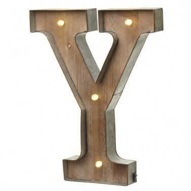 Y letter with leds