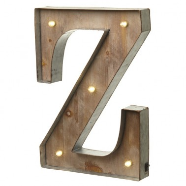 Z letter with leds