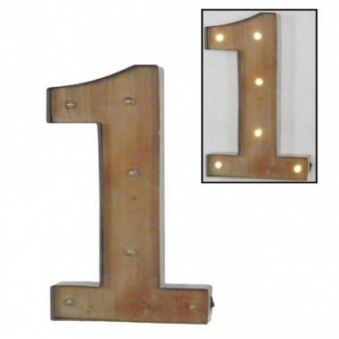 Número 1 con leds