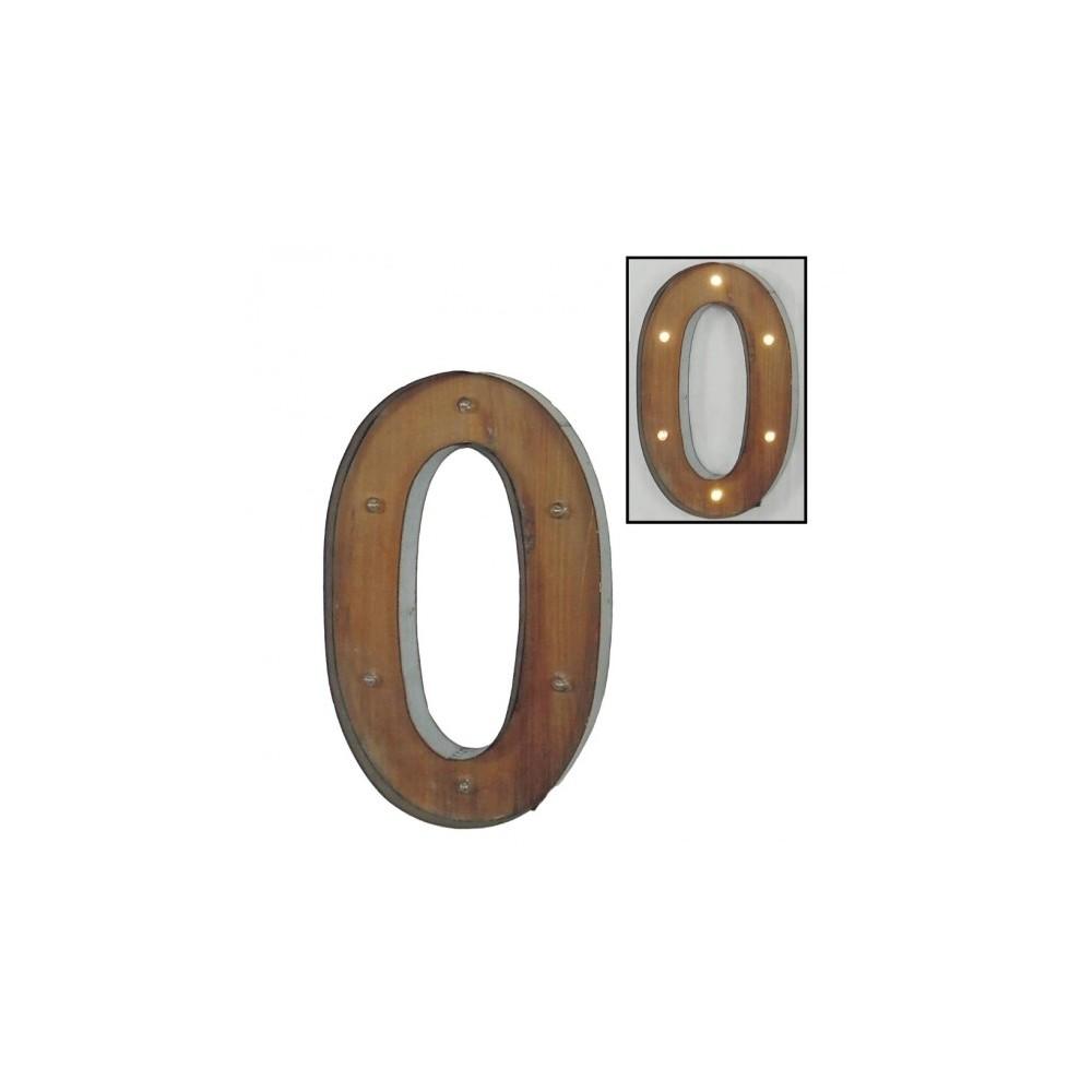 Número 0 con leds
