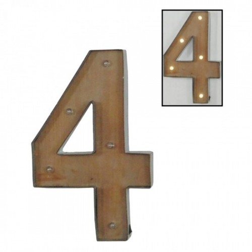 Número 4 con leds