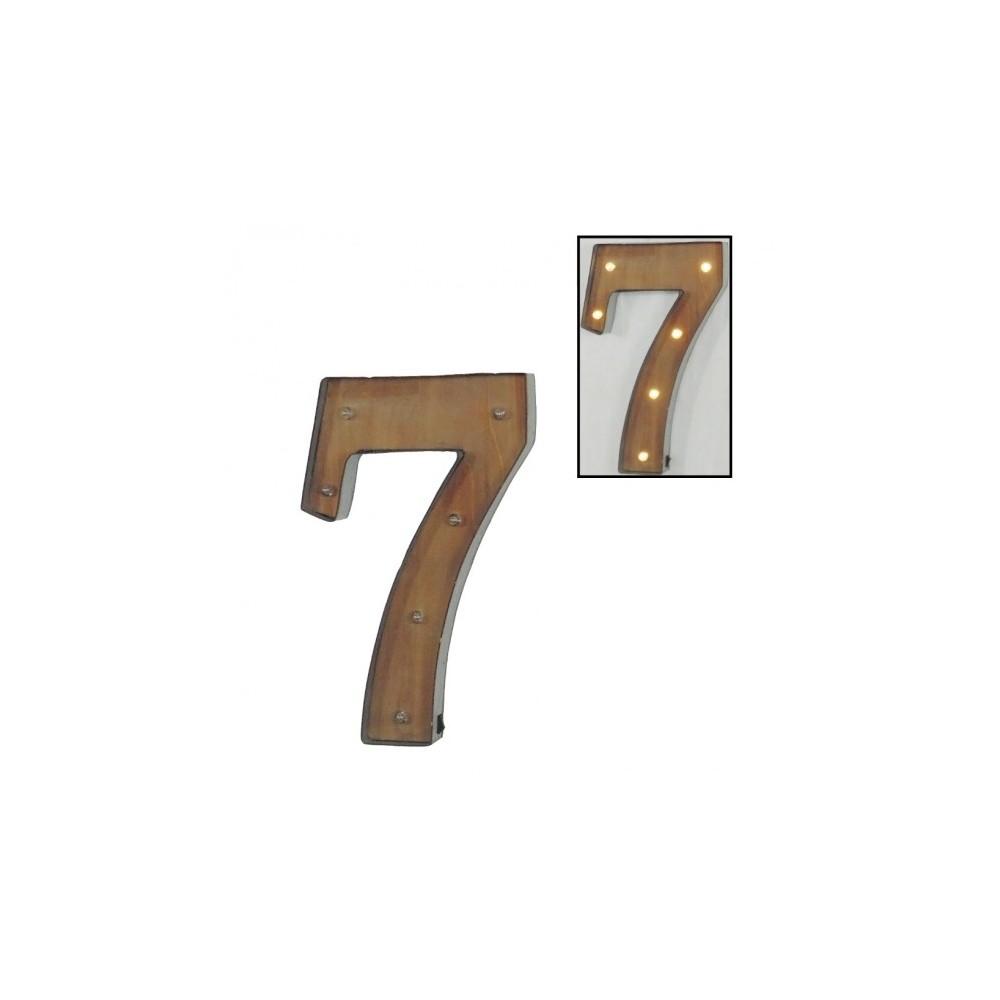 Número 7 con leds