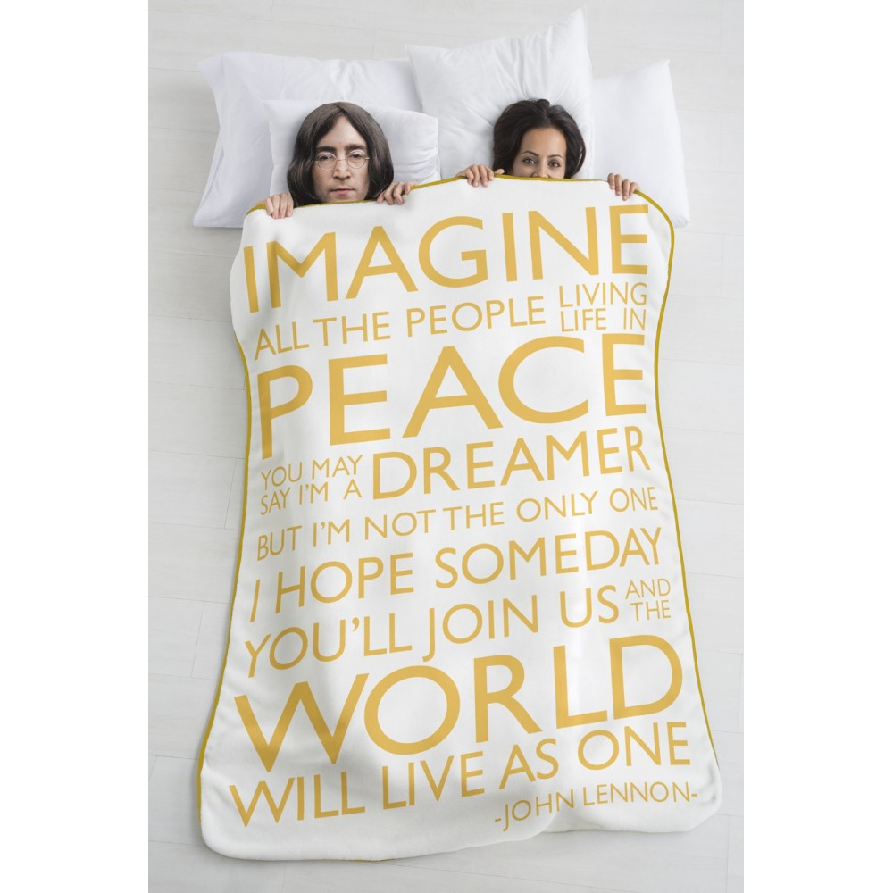 Blanket / Throw Imagine yellow