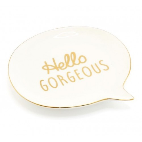 HELLO GORG SPEECH BUBBLE DISH