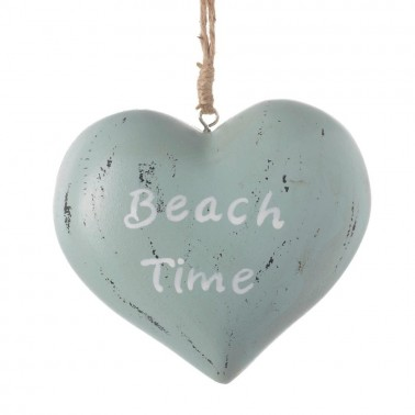 Hanging beach time heart