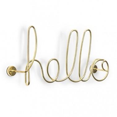 Wired Hello brass