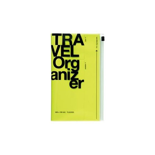MARK'S Travel Organizer yellow neon
