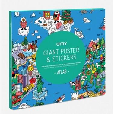 atlas poster stickers
