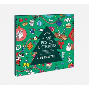 Poster &stickers Christmas tree