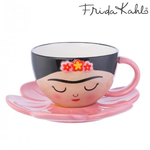 Taza+plato flor Frida