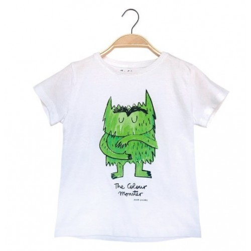 Camiseta verde Monstruo de Colores