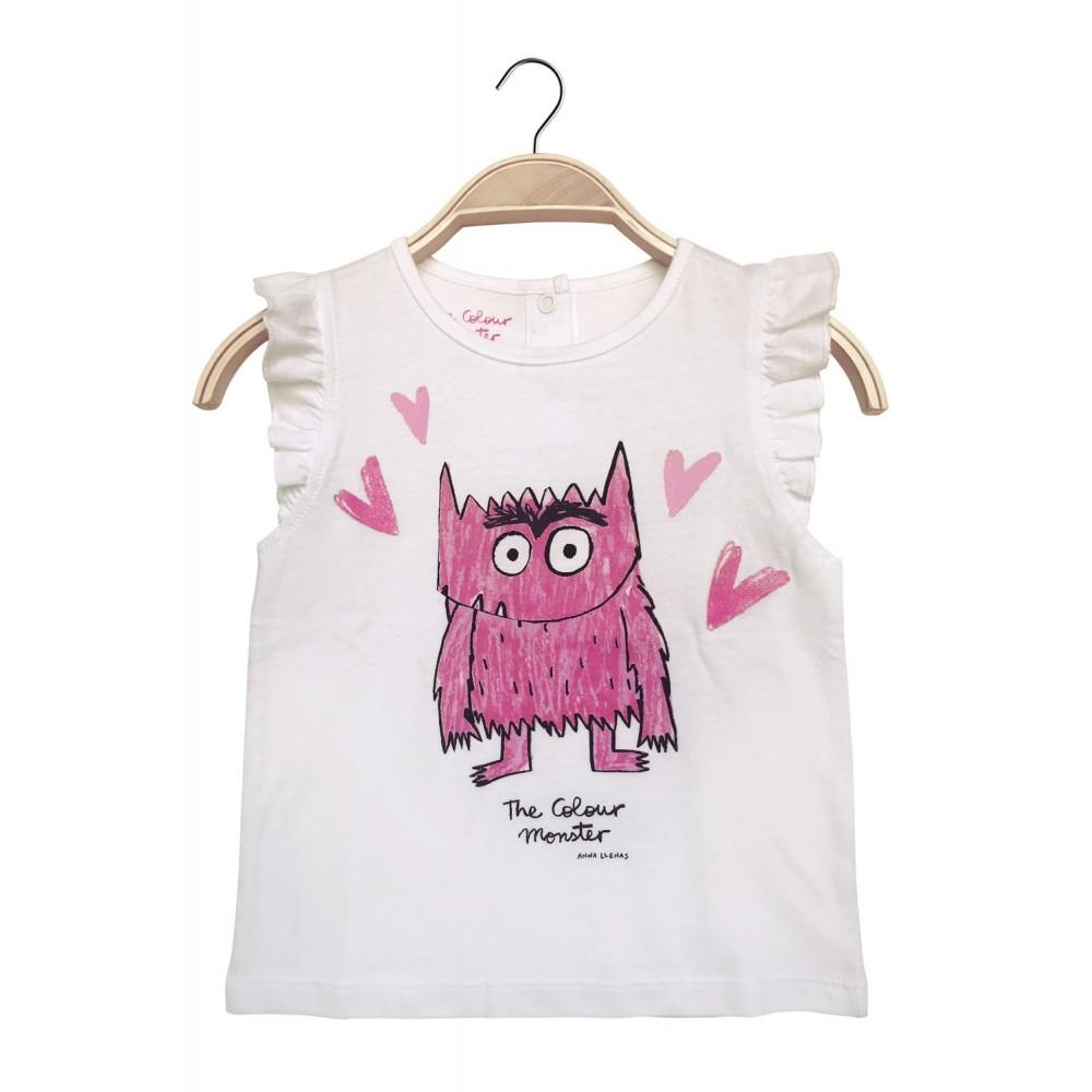Camiseta rosa Monstruo de Colores