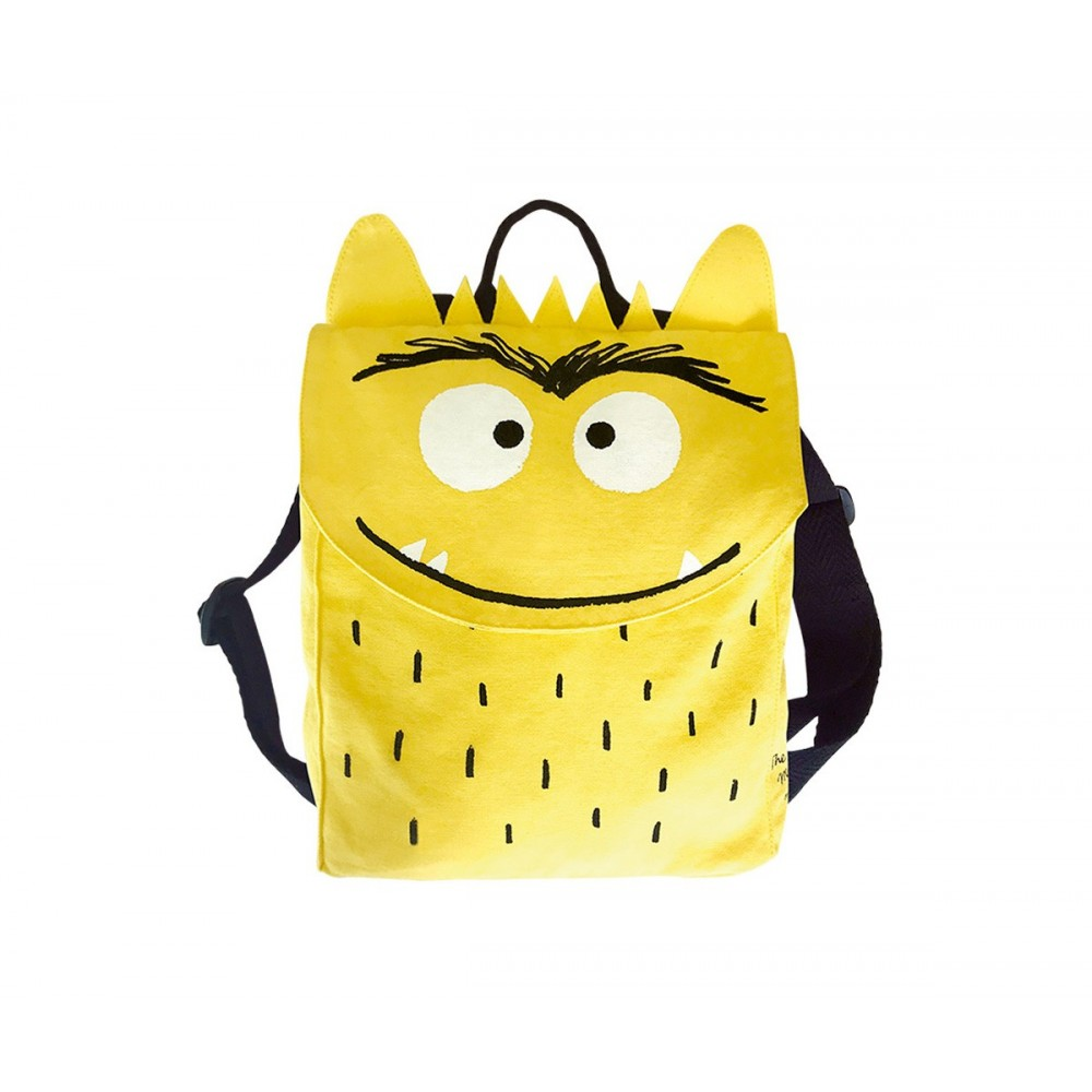 Mochila Alegría El Monstruo de Colores amarilla
