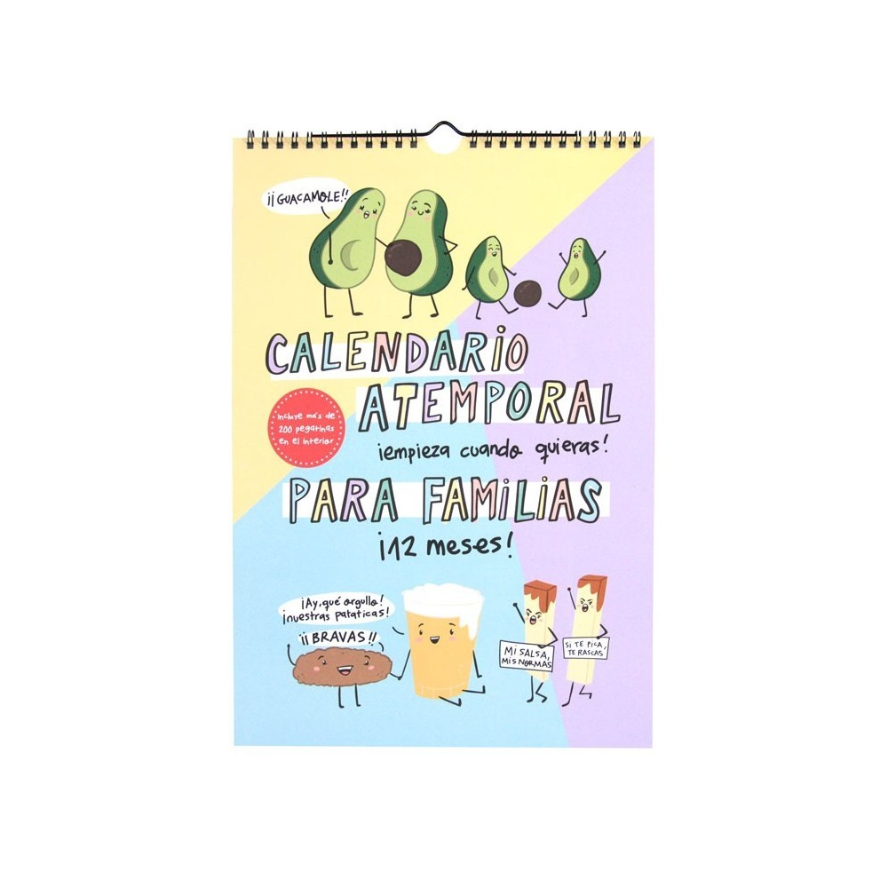 Calendario Atemporal Familias Pedrita Parker