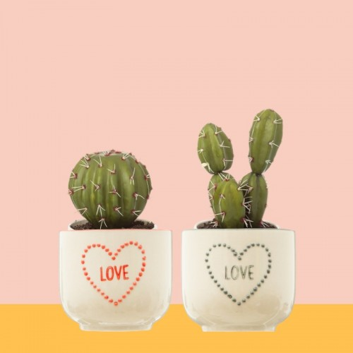 Love planters set of 2