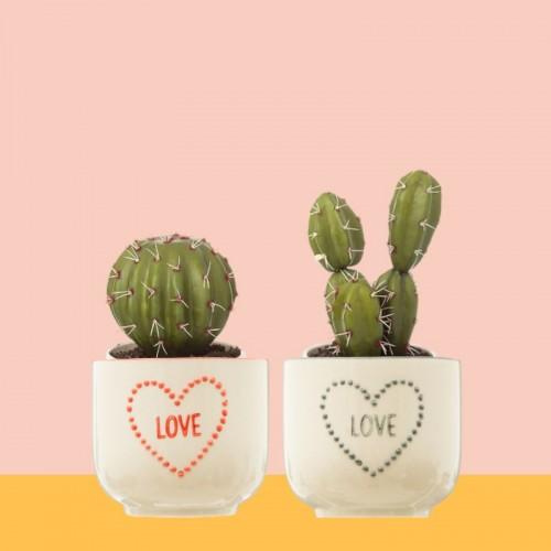 Set 2 macetas Love