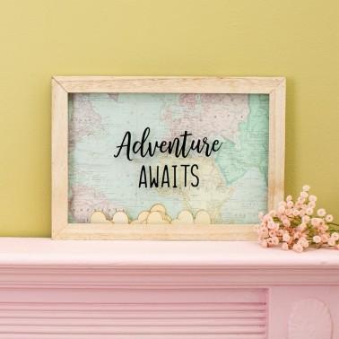 ADVENTURE AWAITS MESSAGE FRAME