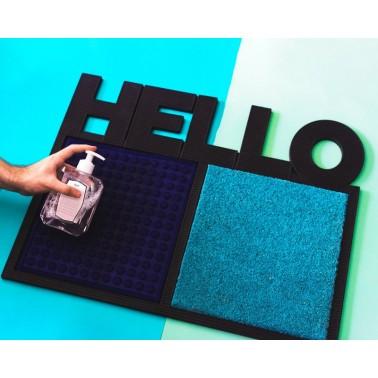 Felpudo desinfectante Hello Azul