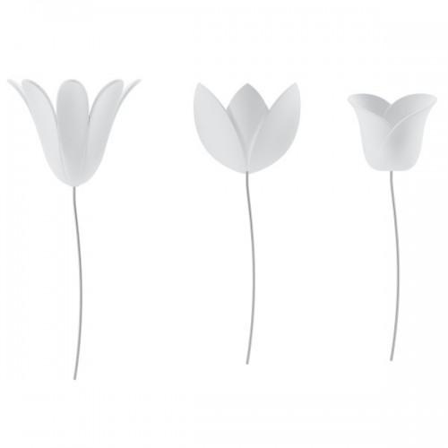 Set 9 Tulipanes decorativos pared blancos