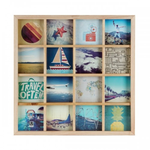 Cuadro fotos Collage madera