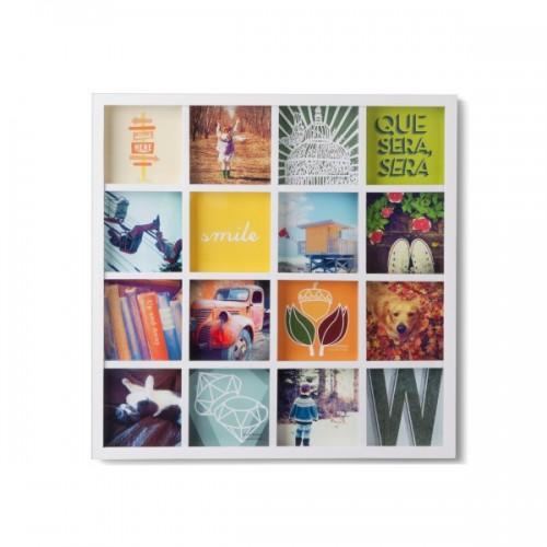 Cuadro fotos Collage blanco